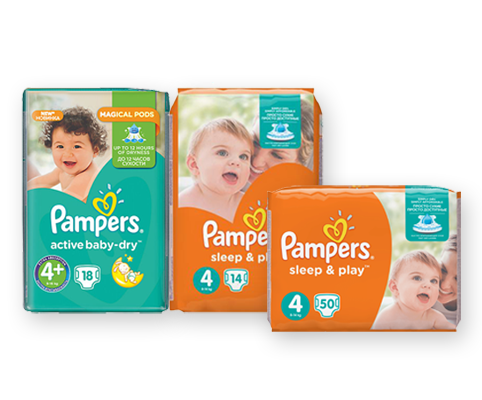 Акция на Pampers и Sleep & Play 10%