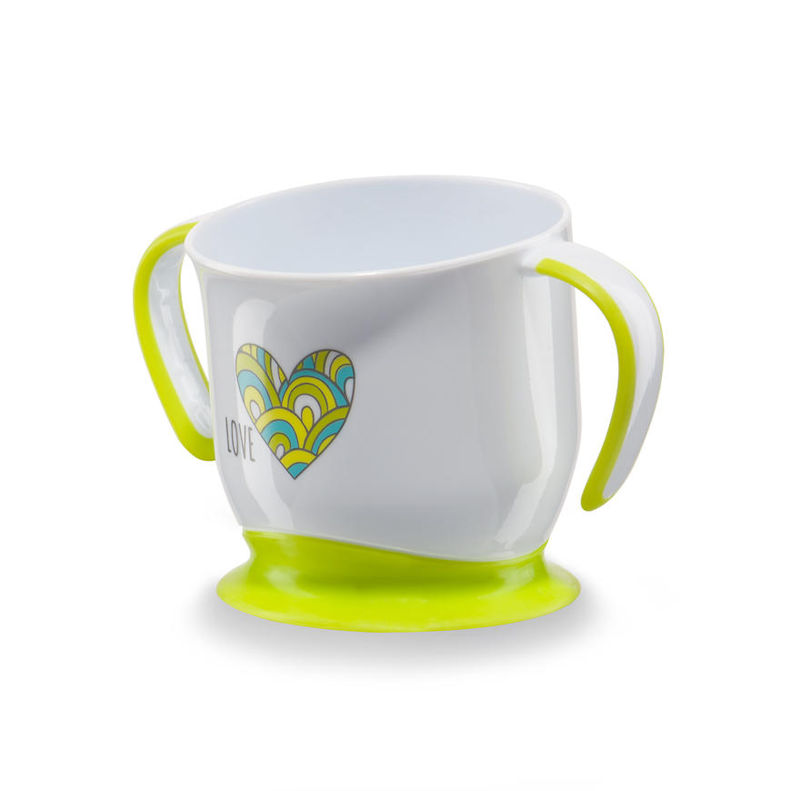 Кружка Happy Baby на присоске Baby cup with suction base Салатовая